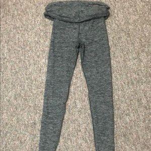 Grey fold over top leggings